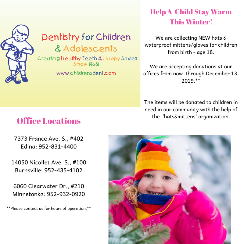 Hats and mittens donation sign