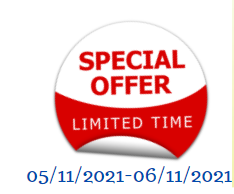 Limited Time Offer 05/11/2021 - 06/11/2021